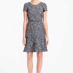 JCrew Holiday Tweed Gray Black Dress